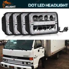 4x6'' H4 Plug LED Headlights Hi/Lo Beam For Forward Isuzu NPR-HD NQR GMC W3500