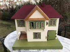 ANTIQUE 1930's DOLLS HOUSE IN VERY GOOD CONDITION WIRED FOR LIGHTS.