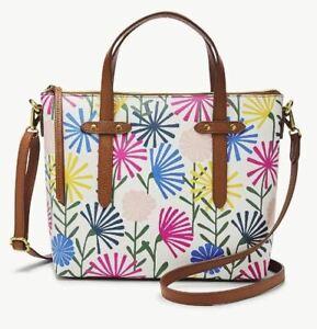 FOSSIL FELICITY SATCHEL CROSSBODY SHOULDER BAG FLOWERS PINK ORIGINAL PACKAGING