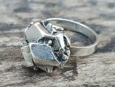Vintage Finnish Tammen Koru 1970s Brutalist Modernist Style Silver Ring 1972