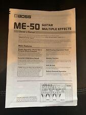 Boss ME 50 Manual
