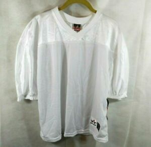 Alleson Athletic Training Jersey Youth L/XL White Football Soccer Rugby New