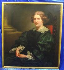 """Norddeutsche Künstler: Amalie Murtfeldt:""""Halbportrait Bremer Kaufmannsfrau"""" 1857"""