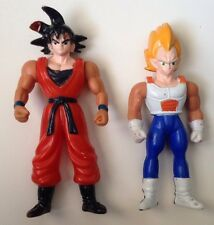 "Dragonball Z/GT Figures-Goku & Vegeta-plastic 4""-rare & odd-no branding"