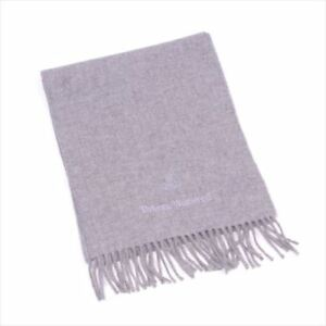Vivienne Westwood Scarf Orb Grey Woman unisex Authentic Used T7038