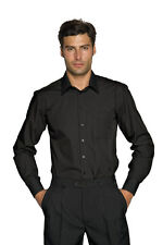 camicia professionale uomo caratgena slim nero taglia m