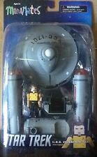Star Trek Minimates U.S.S Enterprise Vehicle with Capt Kirk in Yellow MINT