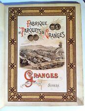 Catalogue : Fabrique de Parquets de Granges (Suisse) - Artisanat du bois