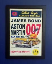 Corgi Toys 261 James Bond Aston Martin DB5 1966 Framed A4 Size Poster Shop Sign