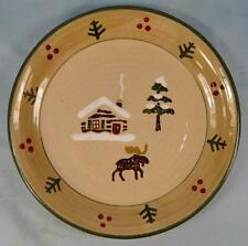 Lodge Moose Salad Plate Sonoma Life & Style For Home Cabin Tree Made China (O)