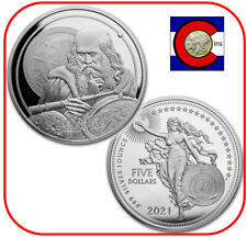 2021 Niue Galileo 1 oz Silver Coin in Mint capsule - Icons of Inspiration Series