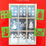 Decorative Christmas Window Stencils - Pack of 4 Designs, by Giftmaker