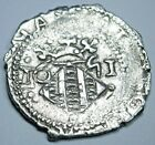 Valencia 1651 Spanish Silver 1 Reales Antique 1600's Colonial Cob Pirate Coin