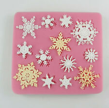 Snowflake Stylist Silicone Fondant Cake Mold Soap Mould Clay Useful Perfect