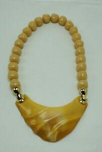 Vintage Orange Sherbet Lucite Trifari Kunio Matsumoto Necklace Beads Gold