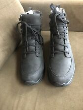 North Face Black Leather Waterproof Boots Mrn's 12 Med