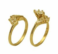 2.00 Ct 14K Yellow Gold Marquise Engagement Promise Ring Matching Band Duo Set