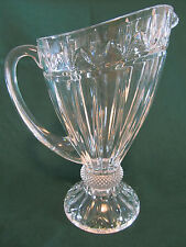 SHANNON 24% LEAD CRYSTAL PITCHER ~ELEGANT~ DESIGNS OF IRELAND. MADE IN SLOVAKIA.
