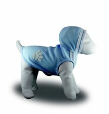 Dog coat hoodie shirt 20-40cm small- xlarge dogs cotton blue with white trim NEW