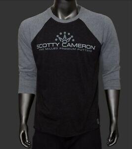 New Scotty Cameron T-Shirt 2XL SC Superfast  Raglan Sleeve Black/Heather XXL