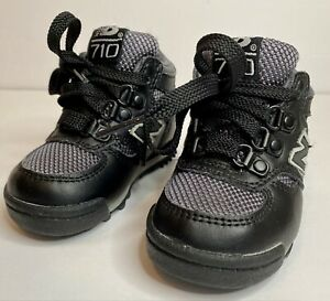 NEW BALANCE 710 TODDLER BABY HIKING BOOTS SHOES SIZE 4 BLACK