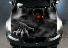 Skull Hood Car Full Color Sticker Vinyl, Car Vinyl Graphics Decal Wrap MH203