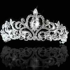 Bridal Princess Crown shine rhinestone Crystal Hair Tiara Wedding Veil Headband