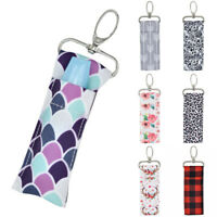 Lip Balm Lipstick Chapstick Holder Storage Pouch Bag Key Chain Keyring  UK