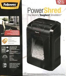 Fellowes Powershred 12C 12-Sheet Cross-Cut Professional Paper Shredder
