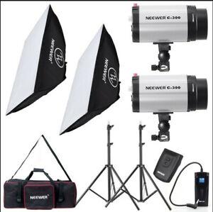 Neewer Photo Studio Strobe Flash Light and Softbox Lighting Kit