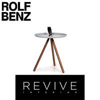 Rolf Benz 973 Holz Stahl Couchtisch Eisblau Blau Beistelltisch Tisch #14388