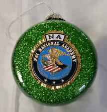 FBI NA National Academy Green Glitter Ornament w FBI NA Full Color Emblem