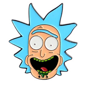 Rick and Morty Pin Badge Lapel - Rick Head Enamel Pin - TV Show Funny