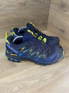 Salomon XA Pro 3D Navy Blue Depths Lime Punch UK 9.5 392518 Walking Hiking