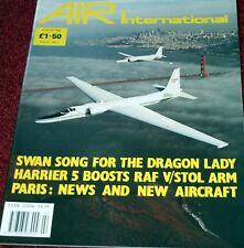 Air International Magazine 1989 August Lockheed U-2,Boeing B29,Harrier,Canberra