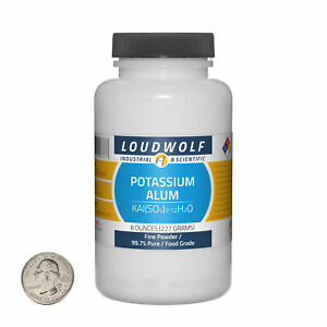 Potassium Alum / 8 Ounce Bottle / 99.7% Pure Food Grade / Fine Powder / USA