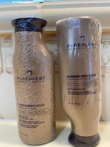 PUREOLOGY NANOWORKS GOLD SHAMPOO AND CONDITIONER 9 Ounces Each