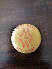 Rare October 30, 1897 University of Wisconsin vs. Minnesota Football Pin WOW!