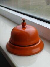 Vintage Counter Desk Top Hotel Teacher Bell orange color