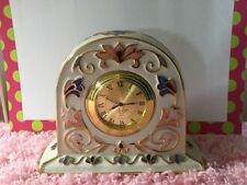 Lenox Gilded Garden Clock hd232 New Working Ready To Gift