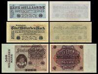 1 - 500 Milliarden Mark - Reichsbanknoten Oktober 1923 - 8. Ausgabe-Reproduktion