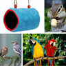 Plush Snuggle Hut Tent Bed Bunk Parrot Toy Bird Hammock Cave Cage& Hanging R7C7