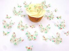 24 Edible Double Strawberry Design Butterflies PreCut Wafer Cupcake Toppers