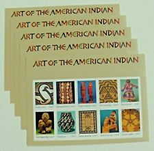 Five x 10 = 50 of ART OF THE AMERICAN INDIAN 37¢ US Postage Stamps. Scott # 3873