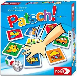 Noris 606013612 Patsch! Kinderspiel Reaktionsspiel 2 bis 6 Spieler ab 4 Jahren