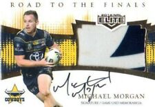 2018 TLA NRL ELITE JERSEY SIGNATURE RFS2 MICHAEL MORGAN COWBOYS #60/80