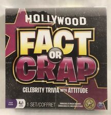 New - Sealed - Hollywood Fact Or Crap Celebrity Trivia Game - Adult Board Game