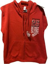 NWT NHL Detroit Red Wings Full Zip Women Slim Fit Hoodie G-III, Red, Sz  M
