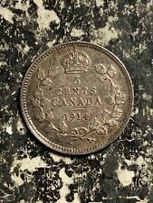 1914 Canada 5 Cents Lot#Q1825 Silver! Nice!