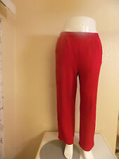 St John Collection By Marie Gray Red Elastic Waist Two Pockets Pants Size 10